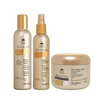 Keracare Detangling Shampoo And Conditioner Duo With Natural Textures Twist And Define Cream (Pack of 2)