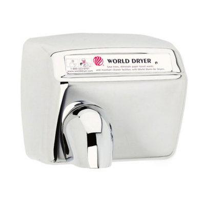 World Dryer Model A Durable Hand Dryer Finish: Polished Stainless Steel, Voltage: 208-240 V
