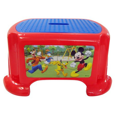 Jakks Pacific MICKEY MOUSE CLUBHOUSE CAPERS RACERS STEP STOOL