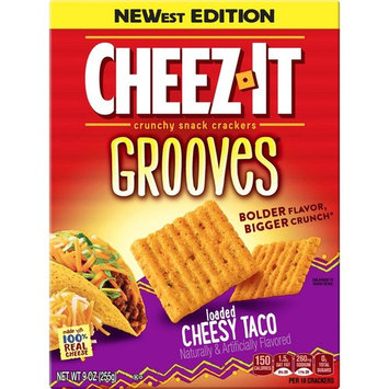 Cheez-It Grooves Loaded Cheesy Taco Crunchy Snack Crackers [number_of_pieces: number_of_pieces-20]