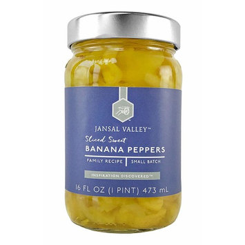 Jansal Valley Sliced Sweet Banana Peppers, 16 Fl Oz