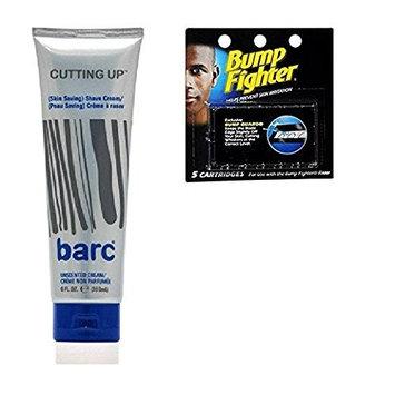 Barc Cutting Up, Unscented Shave Cream, 6 Oz + Bump Fighter Cartridge Refill, 5 Ct + FREE LA Cross 71817 Tweezer