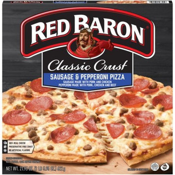 Red Baron® Classic Crust Sausage & Pepperoni Pizza 21.95 oz. Box