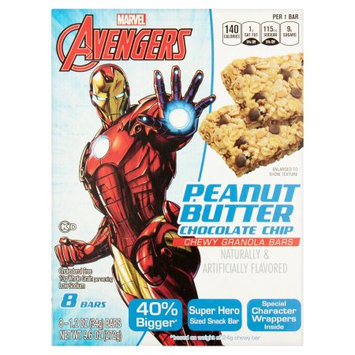 Conagra Foods Marvel Avengers Chocolate Chip Chewy Granola Bars, 1.2 oz, 8 count