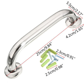 10'' Stainless Steel Safety Grab Bar Handle Chrome Tub Handgrip for Bathroom Shower SPECIAL TODAY !