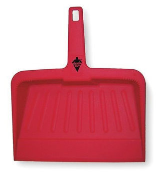 Tough Guy Hand Held Dust Pan (Plastic, 12 in W, Red). Model: 2VEY1