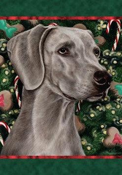 Weimaraner - Best of Breed Holiday Treats Christmas Garden Flag