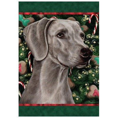 Weimaraner - Best of Breed Holiday Treats Christmas Garden Flag