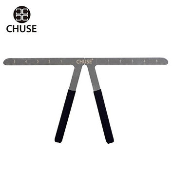 CHUSE Metal Eyebrow Stencil Reusable Makeup Tattoo Balance Ruler Measure Tools