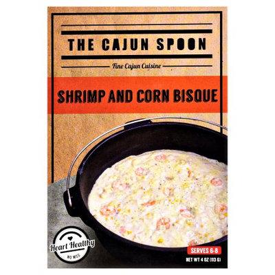 CAJUN SPOON SHRIMP AND CORN BISQUE