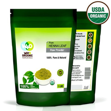 Henna Powder for Hair 16 Ounces (1 Pound) - USDA Certified Organic - Way4Organic