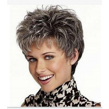 NiceToBuy Synthetic Wigs Silver Grey Fashion Style Hair For Cosplay Daily Wear Costum Party Short Curly Hair Wigs For Women