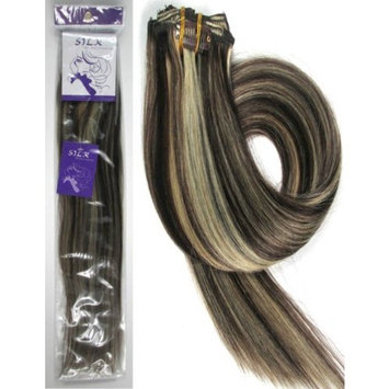 Clip Hair Extension, Grammy 18 Inch 7pcs Remy Clips in Human Hair Extensions 70gr with Clips for Highlight (# 01 Jet Black)