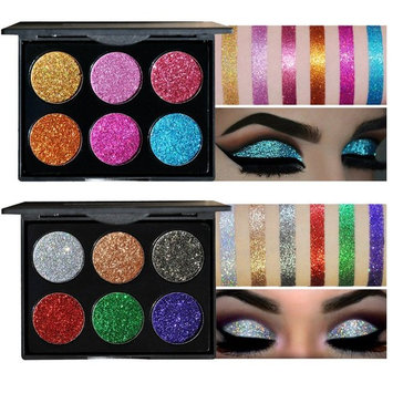 SHERUI 12 Colors Glitter Bright Colorful Eyeshadow, Highly Pigmented,Shimmery Pressed Powder Palette
