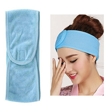 Spa Treatment Facial Headband 4 Pack - Soft Adjustable Towel with Magic Tape Closure