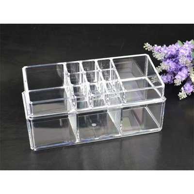 Acrylic Cosmetic Organizer Makeup Brushes Lipstick Holder 1068 *** Top and Bottom Set