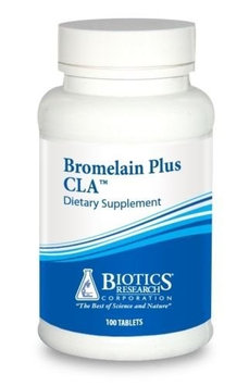 Biotics Research - Bromelain Plus CLA 100 Tablets 1253 Exp.2.18+ SD