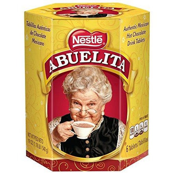 Nestle Mexican Chocolate Abuelita Drink Mix, 6 Tabs in 19 Ounce Package 6 Tablets