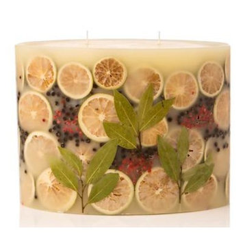 BAY GARLAND Rosy Rings 2-Wick Large Oval 300 Hour Limited Edition Botanical Scented Candle