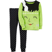 2-Piece Glow-In-The-Dark Snug Fit Cotton Halloween PJs
