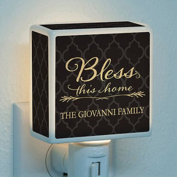 Personalized Bless This Home Night Light