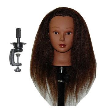 Ethnic Afro Coarse 100% Real Hair Mannequin Head Hairdresser Training Head Manikin Cosmetology Doll Head