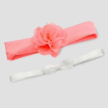 Baby Girls' 2pk Headwraps - Just One You® made by carter's Pink/White One Size