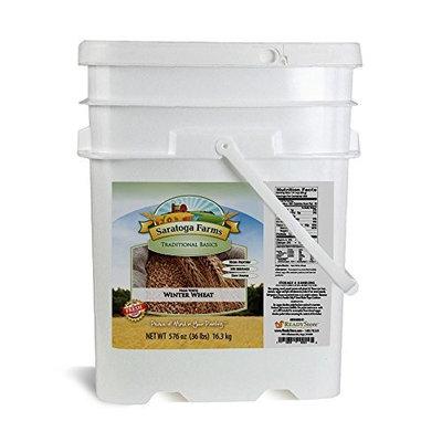 Saratoga Farms Hard White Winter Wheat ValueBUCKET, 5.3-Gallon Bucket, 576oz, Food Storage, Everyday Use, 321 Total Servings