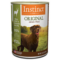 Natures Variety Nature's Variety Instinct Grain-Free Venison Formula Canned Dog Food, 13.2 oz, Case of 6