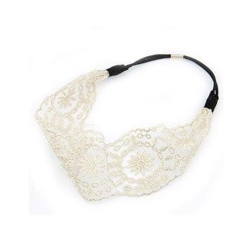 Wisedeal 1pc Lady women girls Elegent Lace Elastic Hair head band hoop accessory tie hairbands headbands turban