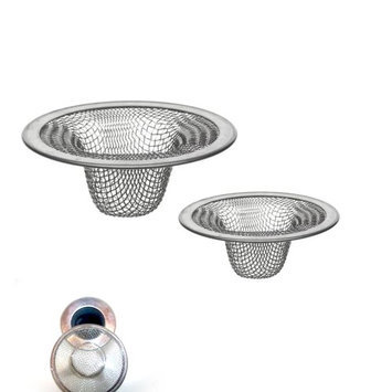 Atb 2 Pc Stainless Steel Mesh Sink Strainer Drain Stopper Trap Kitchen Bathroom New