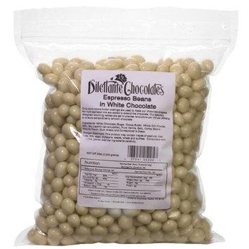 Bulk White Chocolate Covered Espresso Beans - 5lb Bag - by Dilettante [White Chocolate Espresso Beans]