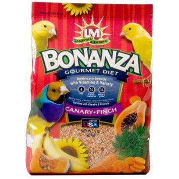 LM Animal Farms Bonanza Gourmet Diet Canary/Finch Bird Food, 2 lb