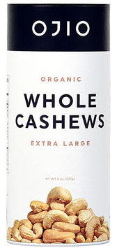 Ojio Gluten Free Organic Whole Cashews - 8 oz