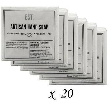 20 Travel Size 1.1 oz EST Artisan Hand Soap - Grapefruit Bergamot
