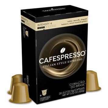 Trilliant Food Cafespresso Coracoa do Brasil, Nespresso Compatible Capsules, 20 count (5 g) capsules, Intensity Level 4