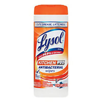 Lysol(R) Kitchen Pro Antibacterial Cleaning Wipes, Pack Of 30