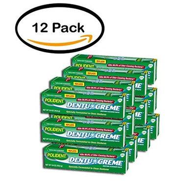 PACK OF 12 - Polident Dentu-Creme Triple Mint Freshness Denture Cleanser Paste 3.9 oz. Box