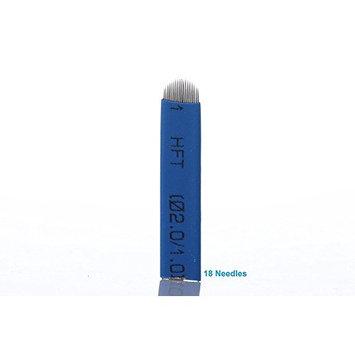 Yimart 50 Pieces Blue Permanent Makeup Tattoo Needles Manual Eyebrow Microblading 18 U-Shape Needles