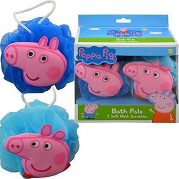 Peppa Pig Bath Set - Body Wash and Two Mesh Scrubbies Bubble Gum Scent