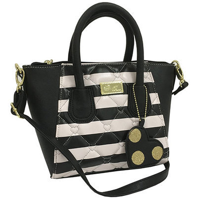 Luv Betsey Pom'n Around Mini Satchel-Black/Silver, Black/Silver