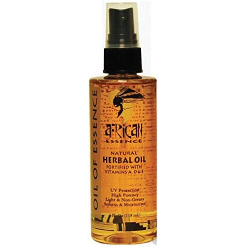 African Essence Herbal Oil Essence Spray 4 oz Fortified with Vitamin A, D, and E