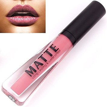 SMTSMT Long Lasting Liquid Lipstick Waterproof Matte Metal Lip Gloss Lip Liner