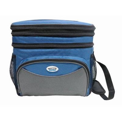 Cooler Bag 24 Can w/ Hard Plastic Ice Bucket-BLUE