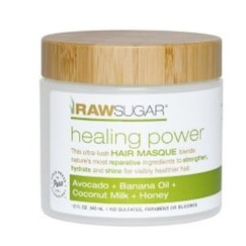 Raw Sugar Healing Power Avocado + Banana Oil + Coconut Milk + Honey Hair Masque 12 fl oz, pack of 1