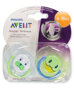 Philips Avent 2-Pack Orthodontic Animal Pacifiers - lime, one size