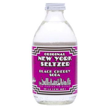 Original New York Seltzer Black Cherry Soda 10 oz Glass Bottles - Pack of 12