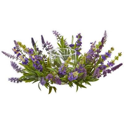 Nearly Natural Lavender Artificial Arrangement Candelabrum