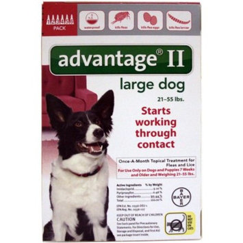 Advantage II BAY-81520291 Flea and Tick Control for Dogs 21-55 lbs 6 Month Supply