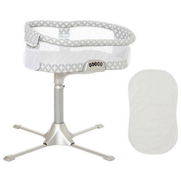 Halo - Swivel Sleeper Bassinet Premiere Series - Harmony Circles with 100 Cott